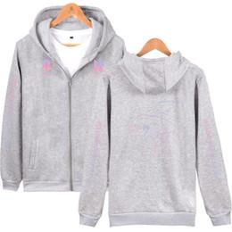 2019 hoodie coreano zipper Atacado Hoodie BTS Kpop amar a si mesmo Zipper camisola Mulheres Hoodies Autumn coreano streetwear feminina Roupa k pop desconto hoodie coreano zipper
