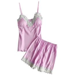 ISHOWTIENDA Set da donna in pigiama Sexy lingerie in pizzo Intimo da notte Babydoll Short Sleepwear 2PC Set plus size nightwear da