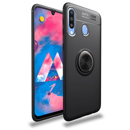 caso dedo samsung Desconto Anel holer Anti-queda Phone Case para Samsung Galaxy A20 A30 Shockproof Anti-dedo Adsorção tampa do telefone móvel com Kickstand
