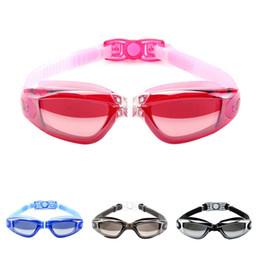 ebba0012d2 Gafas de natación Mujeres Hombres Lente Electropilada Impermeable Anti-niebla  Gafas Anti-UV Gafas para adultos Ropa deportiva Accesorios