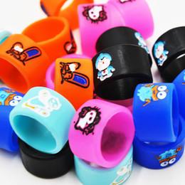bagues en silicone e cigarette Promotion Silicon Mod Ring pour la cigarette électronique Mod Vapor Silicone Bagues de silicone pour les bagues décoratives et de protection Doraemon Hello Kitty