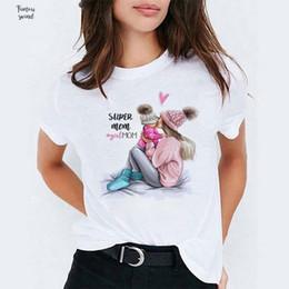 2019 top mütter tag geschenke Brief Harajuku Mom Shirts drucken Frauen-Mode Baumwollbeiläufiges 100% Baumwolle Lustige T Lady Mama Geschenk Top Happy Mothers Day rabatt top mütter tag geschenke