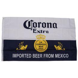 Corona Extra Imported Beer from Mexico Flag Novità Bandiera bandiera 3x5ft 90x150cm poliestere, spedizione gratuita da bandiere della birra fornitori