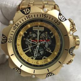 m4 tap Desconto 9A homens de boa qualidade invicta OURO relógios pulseira de aço inoxidável Mens Relógios de Quartzo Relógios de Pulso relogies para homens relojes Melhor Presente Venda Quente