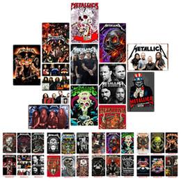 Argentina Rock Band cartel Metallica Vintage arte de la pared pinturas modernas Carteles de chapa Metal viejo Pintura de la pared Bar Inicio Acentos WallpaperT2I5357 Suministro