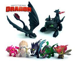mario koopa garoto Desconto 7pcs Set PVC Action Figure Toy Como Treinar o Seu Dragão boneca