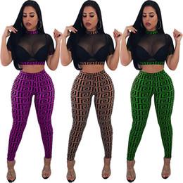Usa trajes online-Traje de malla transparente Pantalones cortos de malla Juego de 4 colores Ver a través de pantalones lápiz Traje Party Club Use Trajes de 2 piezas LJJO6575