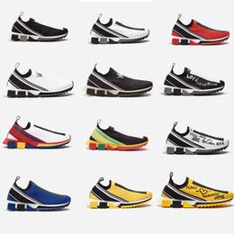 2019 новые вязаные кроссовки Sorrento резиновые микро подошва дышащая дизайнерская обувь унисекс кроссовки Sorrento слип-кроссовки повседневная обувь cheap knitted shoe sole от Поставщики трикотажная подошва для обуви