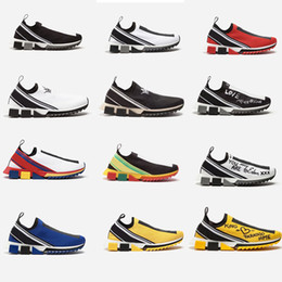 2019 zapatos de goma corriendo 2019 Nuevo punto Sorrento Sneaker Rubber Micro Sole Respirable Diseñador de zapatos Unisex Zapatillas Sorrento Slip-on Calzado casual zapatos de goma corriendo baratos