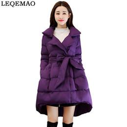 Nuevo 2019 Chaqueta de invierno para mujer Abrigo de algodón Chaquetas largas Ropa de abrigo gruesa Ropa de algodón grueso Forro acolchado Forro falda de las señoras desde fabricantes