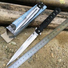 fach überlebensmesser Rabatt Kalte Stahl Schwarz Ti-Lite VI 6 Zoll Klinge Taktische Stiletto Folding Survival Messer Klappmesser 26SXP