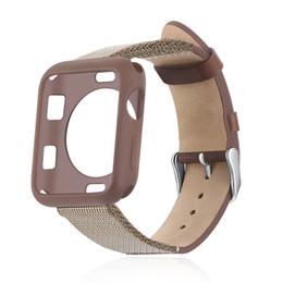 Argentina Banda de cuero real con estuche de TPU para Apple Watch Series 4 3 2 1 Correa de muñeca Hebilla para IWatch 40mm 44mm 38mm 42mm cheap apple watch band case Suministro