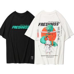 samurai superior Desconto Guerreiro Samurai japonês Impresso Camisetas 2019 Mens Harajuku Streetwear Tops Tees Moda Masculina Casual Algodão Camisetas