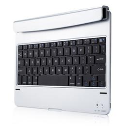 Флип-клавиатура онлайн-Bluetooth Keyboard Ultra-Slim Desktop Stand Case Flip Durable Backlight Plug-In Wireless For IPad Air2 Pro9.7