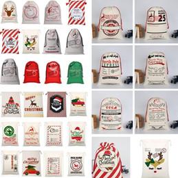 xl sacolas de armazenamento a vácuo Desconto Sacos De Presente de Natal em casa Reutilizável Cordão Sacos De Saco De Papai Noel Saco de Lona rena Elk Saco de cordão Saco De Armazenamento de Renas Saco de Presente