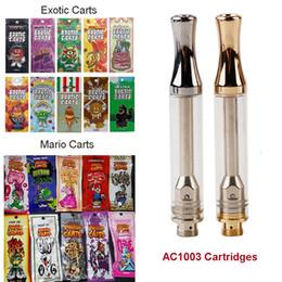 2019 сок жидкого испарителя AC1003 1 мл Керамический Vape картридж упаковка Марио экзотические тележки пустой Vape Pen масляные картриджи распылитель испаритель Pen для 510 батареи Ecig