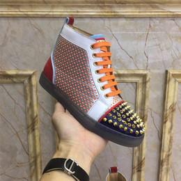 Canada EXCLUSIVITÉ qualité 9 couleur femmes hommes concepteurs de broderie chaussures Junior Spikes Plat Multi Couleur Bas Offre