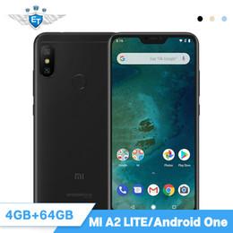 2019 huawei carte unique Version Globale Xiaomi Mi A2 Lite 4Go 64Go 5.84 '' Téléphone Mobile Snapdragon 625 AI Double Caméra 4000mAh Android One Android 8.1 CE