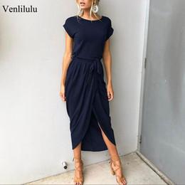 2019 plus size party kleider frauen sommer lange maxi dress beiläufige dünne elegante dress bodycon weibliche strand kleider für frauen 3xl von Fabrikanten