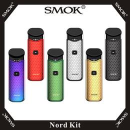 terminateur mod démarreur Promotion Kit cartouche de gousse 3 ml avec batterie 1100mAh intégrée dans le kit SMOK Nord avec bobine de maillage 1.4ohm Regula 0.6ohm 100% Smoktech Vape originale