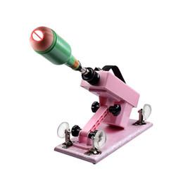 Masturbador automático de la ametralladora online-Ametralladora automática del juguete del sexo para los hombres, juguetes sexuales del sexo del masturbador masculino retractable de 6cm con el dispositivo de la taza de la masturbación
