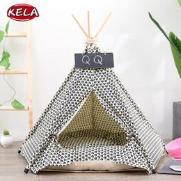 Almofadas de tenda on-line-2019 Novo Algodão Pet Almofada Lavável Forma Tenda Bed Dog + Tent Canil Pet Casa Removível Aconchegante Para Cachorro Cães Gato Pequenos Animais