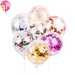 Confetti baby online-Decorazione di cerimonia nuziale 10pcs rosa argento glitter coriandoli palloncini baby shower festa di compleanno celebrazione arredamento perfetto forniture, 5