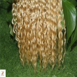 erdbeere blonde menschenhaarverlängerungen Rabatt Erdbeerblond Farbe Doppelschuss Kinky Curly Hair Extensions 100% Echthaar Extensions 10-30 Zoll Jungfrau-Haar-Erweiterungen