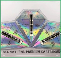 2019 diamante vapor Hot marca nova caixa de Forma de Diamante vaporizador Atomizador Puro Tanque De Vidro Cartucho De Vape Tanque De Cerâmica Carrinhos 0.8 ml 1.0 ml Canetas Vaporizador de Óleo Grosso desconto diamante vapor