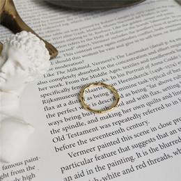 100% Стерлингового Серебра 925 Регулируемые Бамбуковые Кольца Пальца Hipster Изящных Ювелирных Изделий Новый Простой 18 К Позолоченные Открытые Кольца Пальца от