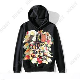 2019 homens florais do hoodie Europa designer de roupas de marca mens flores milnao impressão casual hoodie Streetwear algodão pullover com capuz camisola jumper