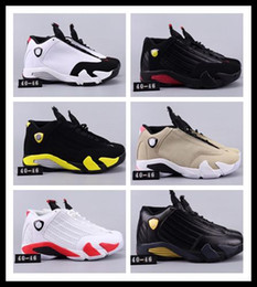 shoes 14 running Promo Codes - 14 14s high quality mens Basketball Shoes Desert Sand DMP Last Shot Indiglo Thunder Red Suede Oxidized Black Toe men Sports Sneakers designe