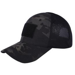 Acquistare i berretti online-2pcs uomini cappello da baseball formazione esercito berretto mimetico campeggio esterna escursionismo sole cappello YS-buy