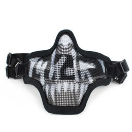 paintball tactical Promo Codes - 2019 New Outdoor Tactical Ghost Mesh Airsoft Mask Emerson Paintball Half Face Protection Strike Style Hunting Accessories
