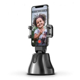 360 macchina fotografica selfie online-Portatile all-in-one di ripresa Smart Auto selfie Stick 360 rotazioni viso Auto Tracking oggetto di monitoraggio vlog Holder Camera Phone