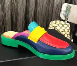 Diseñador de Mujer de Cuero zapatos de Lona Sandalias de Calidad Superior Real de piel de cordero Mujeres Zapatos Planos perla oxford zapatos casuales EU35-40 Con caja CH8 desde fabricantes