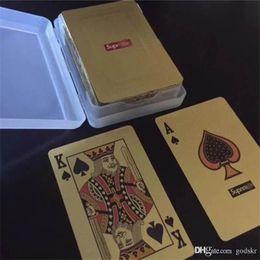 SUP Gold Playing Cards Tarjeta de entretenimiento de marca para Bar KTV Party Tarjeta de póquer a prueba de agua con logotipo Fiesta en el festival Suministros desde fabricantes