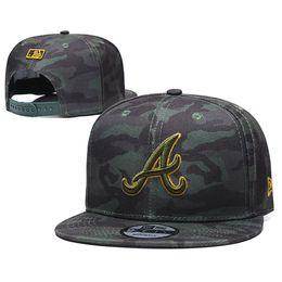 Atlanta brave chapeaux en Ligne-New Atlanta Era Braves Casquette de baseball Camouflage Broderie 9Fifty Chapeau Sunhat Mode Casquette de baseball Snapback Casquette