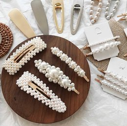 elegant hair clips barrettes Coupons - Korean 8 stlyes Acrylic Imitation Pearl Women Barrettes Elegant for female girl Hair Clip Hairgrips Hair Accessories New 2019