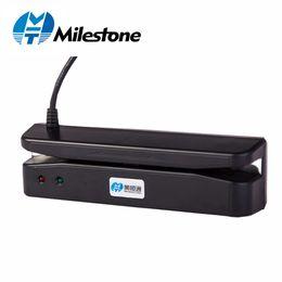 Compras usb online-Lector de hitos Tarjeta de banda magnética Escaneo de deslizamiento 35mA Escáner de tarjeta VIP estándar Puerto USB Principal para supermercado / Tienda MHT-400