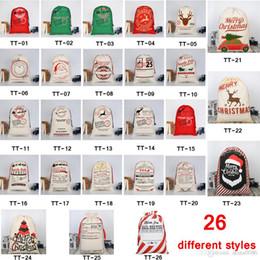 2019 niños guantes amarillos 32 ESTILOS Bolsas de regalo de Navidad 2019 nuevo Bolso con lazo de navidad con renos Papá Noel sacos para saco de Santa bolsa para niños