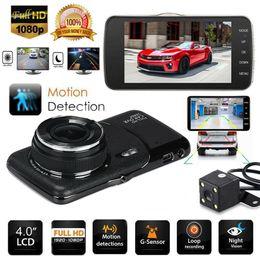 """Doble lente hd online-Coche dvr 4 """"1080P Dual Dos lentes Car Dash Cam Parte delantera Parte trasera de la cámara Tablero 170 ° Grabador DVR"""