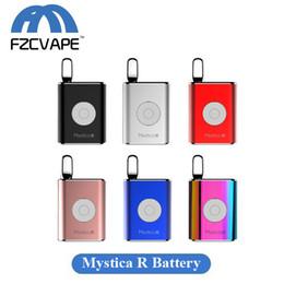 Batteries rs en Ligne-Authentique Airis Mystica R Batterie 450mAh Tension Variable Vape Box Mod Batterie pour cartouches de concentré d'huile épaisse de 12mm ou moins