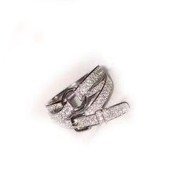 Koreanischen japanischen schmuck online-S925 Silber Ring mit Bohrer Gürtelschnalle und Beweglichen Ring Weiblichen Stil Japanischen und Koreanischen Zirkon Mode Kreative Chao Man Schmuck