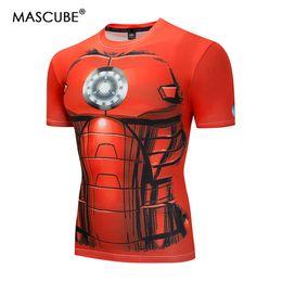 camisa super herói feminino Desconto MASCUBE Superhero 3D Impresso Roupas Ironman T-Shirt Das Mulheres Dos Homens Dos Desenhos Animados 3D Camiseta Engraçado Camisetas Camisetas Camisa de Compressão