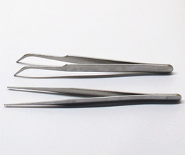 Acier inoxydable pointe pincettes coudées appareil électronique réparation beauté ongles produits multi-viande horticoles outils de distribution DIY ? partir de fabricateur