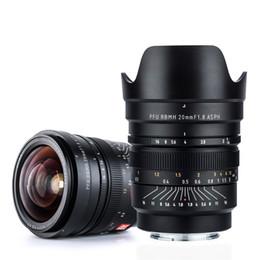 nex e mount Скидка VILTROX 20mm f / 1.8 ASPH полнокадровый широкоугольный-Prime фиксированный фокус для камеры Sony NEX E A9 A7M3 A7R Fujifilm FX-mount