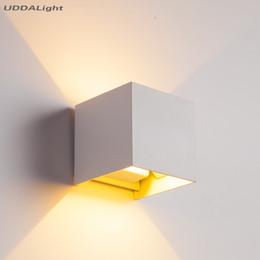 Wall Lights Aplique De Pared L/ámpara Cuadrado Moderno Sal/ón Cocina Dormitorio Ba/ño Corredor Luz Impermeable Exterior LED Aluminio,White-7w