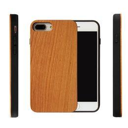 Personalize o caso iphone on-line-Mais novo estilo personalizado de madeira real + macio tpu à prova de choque phone case para iphone 7 8 plus gravado de madeira tampa do telefone móvel para o iphone 6 6 s x