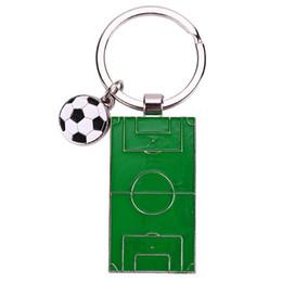 2019 campo de fútbol Nuevos campos de fútbol Llaveros Metal Fútbol Llaveros Mini cancha para fanáticos del deporte Regalos rebajas campo de fútbol
